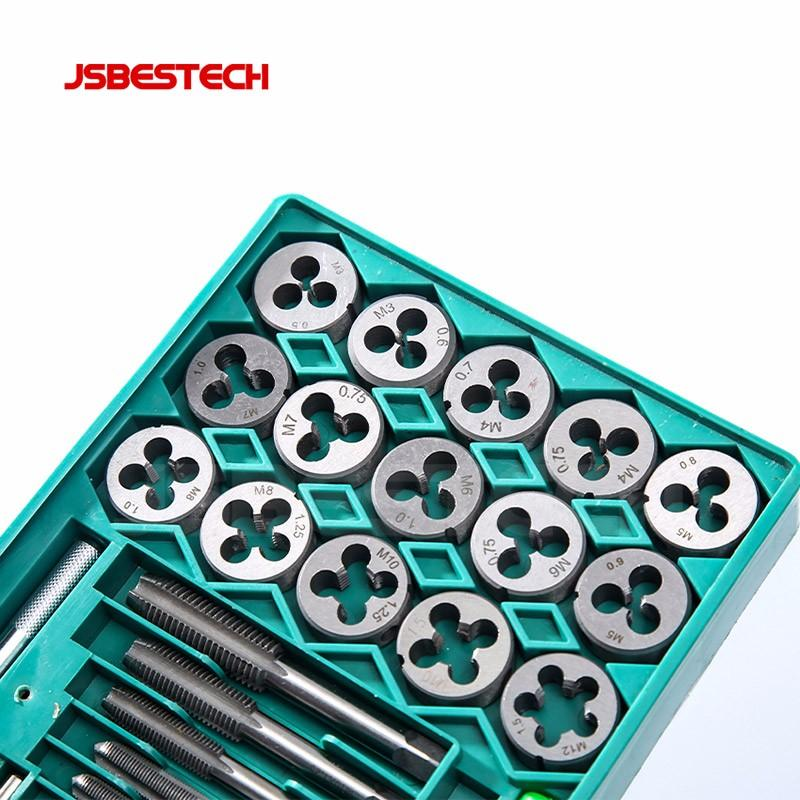 Alloy steel metric and inch 40 pieces UNC  UNF TAP AND DIE SET