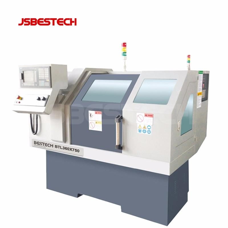 BTL360 GSK or Siemens system flat bed cnc automatic lathe machine