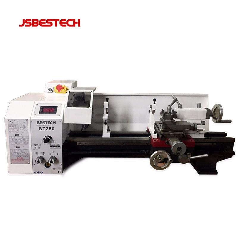 With 125mm chuck diameter BT250 light weight mini bench metal lathe machine