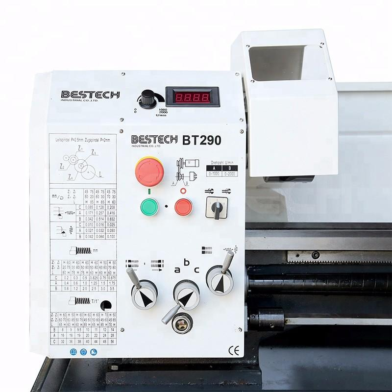 With 182mm harden bedway BT290 low price mini bench lathe machine